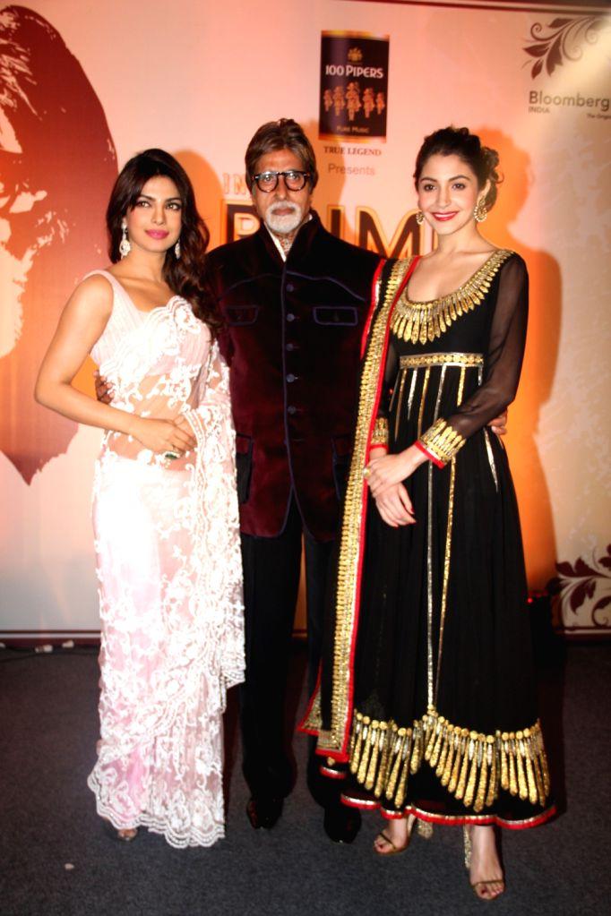 Amitabh Bachchan with Priyanka Chopra and Anushka Sharma - Amitabh Bachchan, Priyanka Chopra and Anushka Sharma