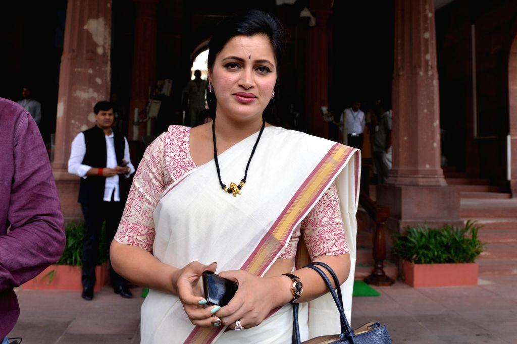Amravati MP Navneet Kaur at Parliament in New Delhi on July 17, 2019. - Navneet Kaur