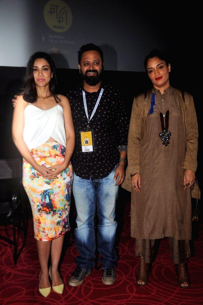 Amrita Puri, Nikkhil Advani & Sandhya Mridul arrive to attend the screening of Nikkhil Advani`s TV show `P.O.W. Bandi Yuddh Ke` at the Jio MAMI 18th Mumbai Film Festival, in Mumbai on Oct ... - Nikkhil Advani