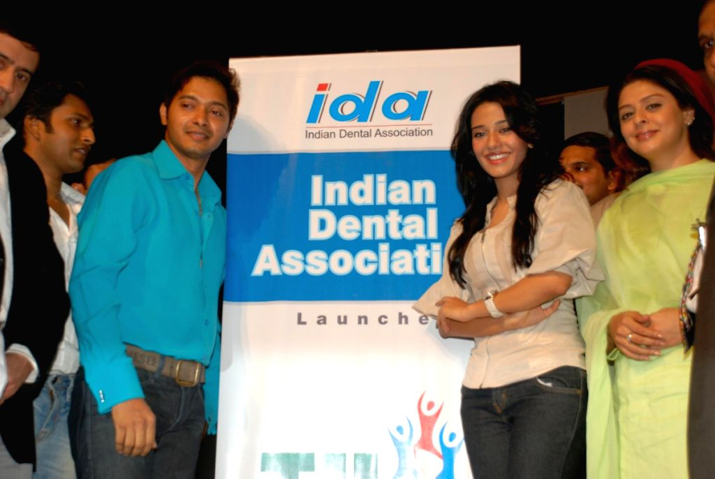 Amrita Rao, Shreyas Talpade and Nagma at IDA no tobacco event.