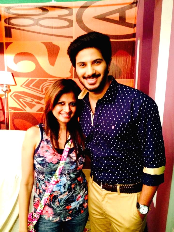 Amritha with Dulquer Salmaan
