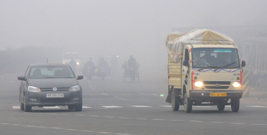 A blanket of dense fog covers Amritsar on Jan 8, 2015.