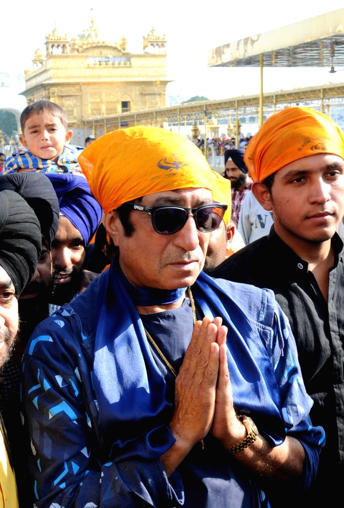 Actor Shakti Kapoor pays obeisance at the Golden Temple in Amritsar, on Nov 17, 2014.