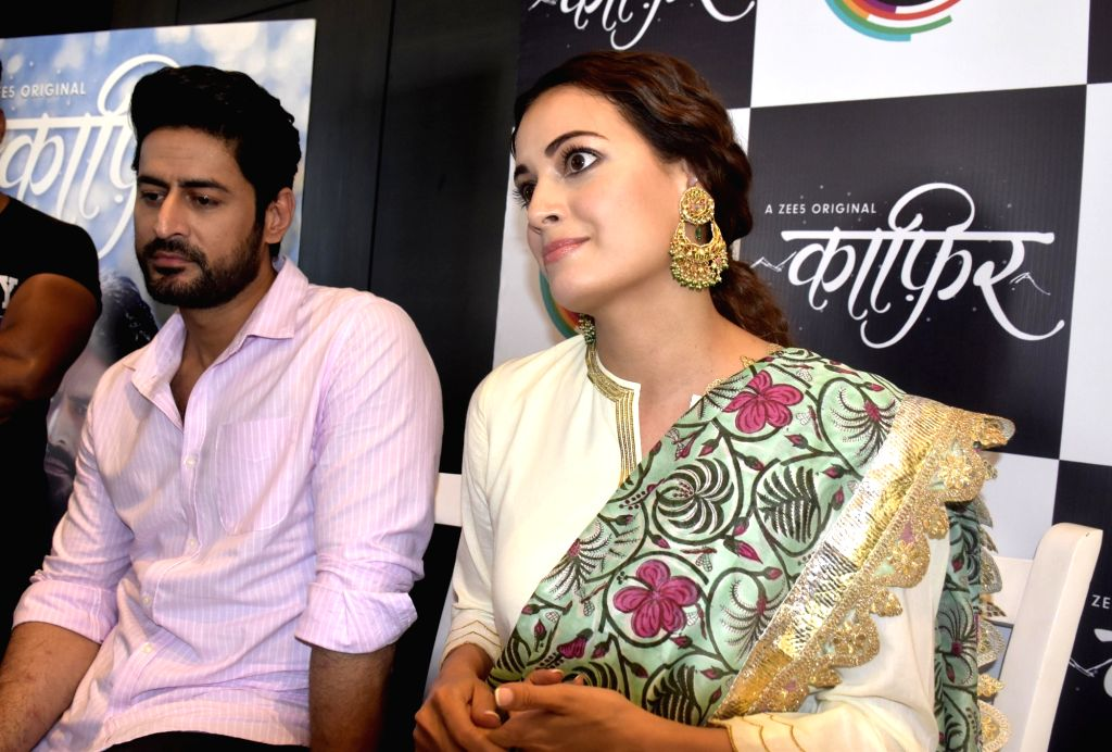 Amritsar: Actors Dia Mirza and Mohit Raina during promotion of their web-series 'Kaafir' in Amritsar, on June 11, 2019. (Photo: IANS) - Dia Mirza and Mohit Raina