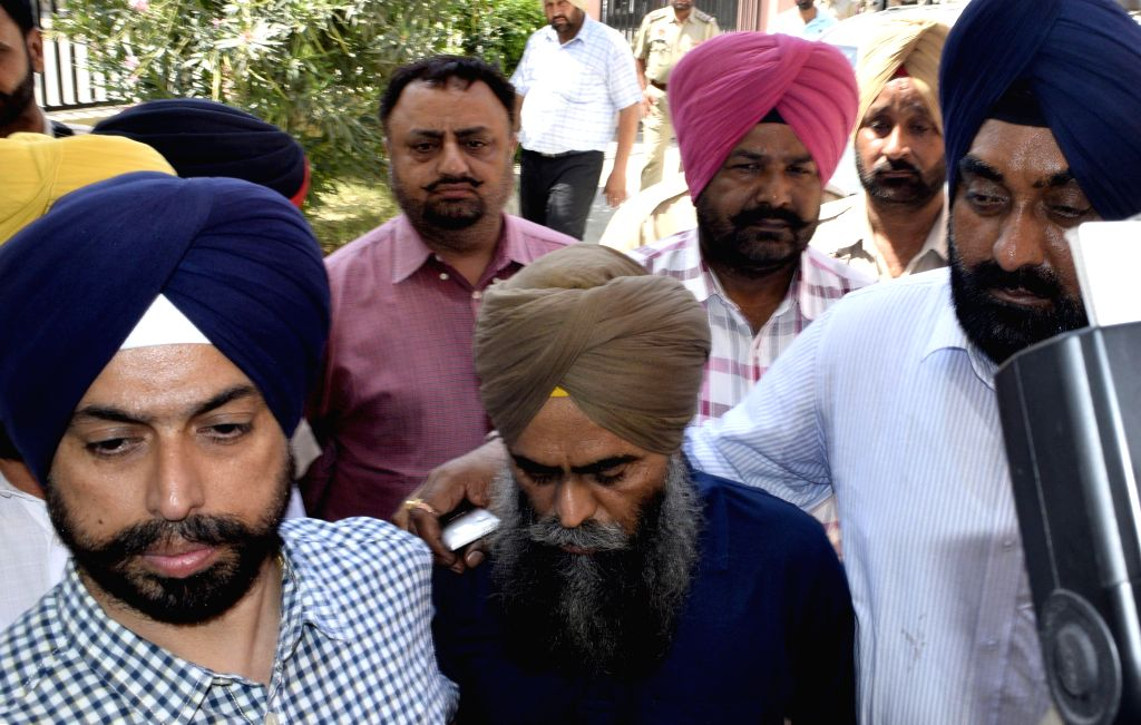 Devinder Pal Singh Bhullar, a convict in 1993 Delhi bomb blast case, being taken to Government Medical College for medical checkup in Amritsar on June 12, 2015.