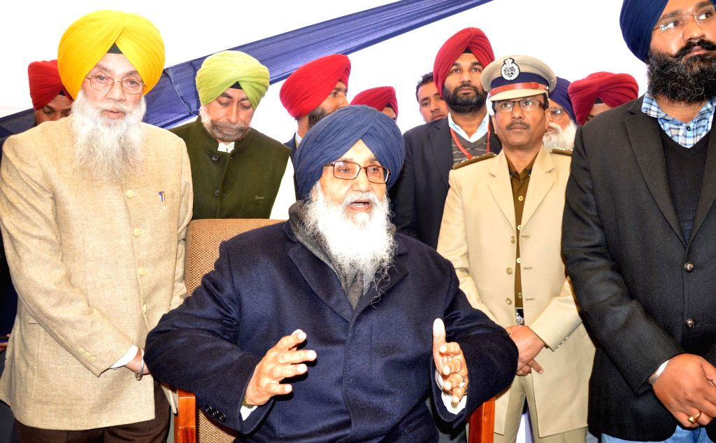 Punjab Chief Minister Parkash Singh Badal during a programme organised in the memory of Baba Jeevan Singh in Amritsar, on Dec 21, 2014. - Parkash Singh Badal