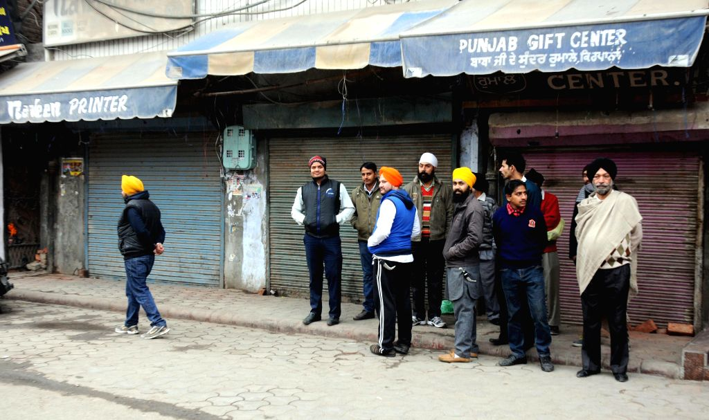 Shops remain closed during a statewide strike called by Sikh radicals to demand release of Sikhs prisoners who are languishing in various jails across the country despite completing their ..