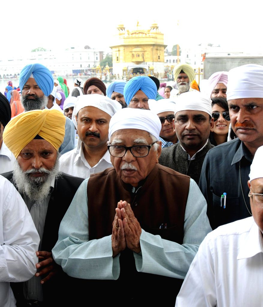 Uttar Pradesh Governor Ram Naik during his visit at Golden Temple in Amritsar, on April 4, 2015.
