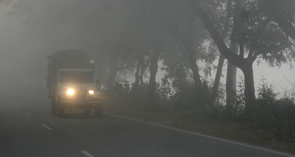 Amritsar wakes up to a foggy morning on Dec 2, 2015.