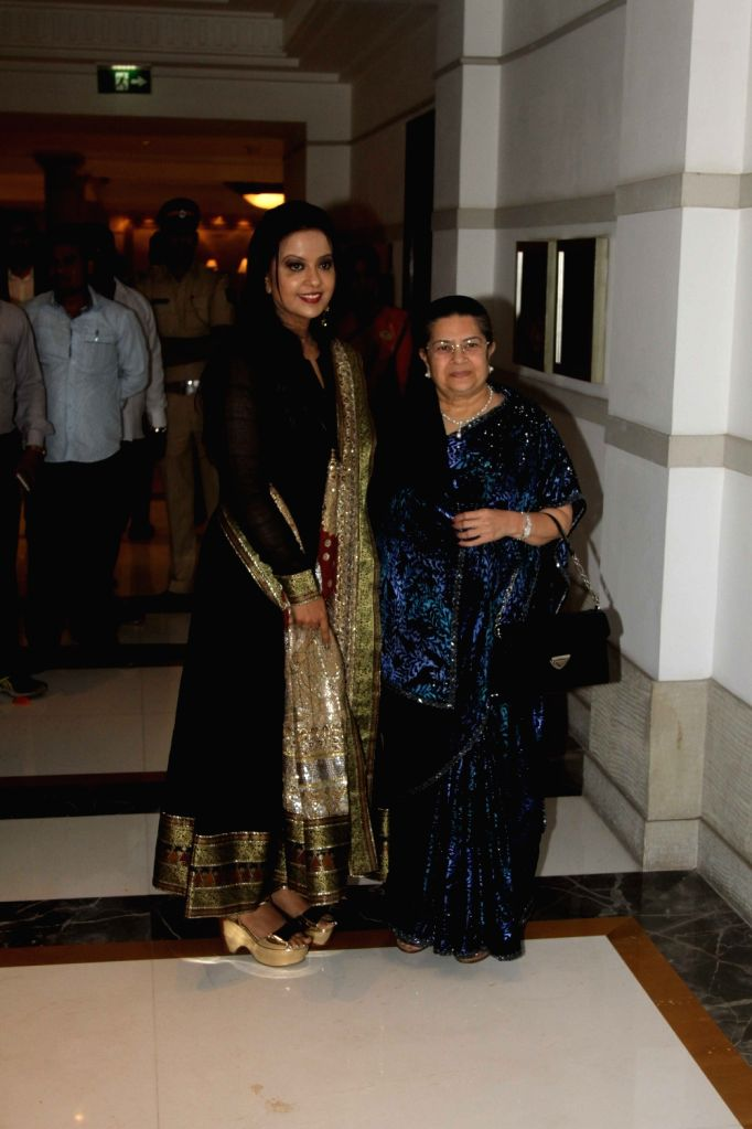 Amruta Fadnavis and Rajashree Birla during Archana Astitwa Awards 2017 in Mumbai on March 7, 2017.