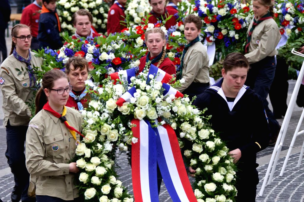 AMSTERDAM, May 4, 2017 - People attend the ceremony to commemorate all civilians and members of the armed forces of the Kingdom of the Netherlands who have died in wars or peacekeeping missions since ...