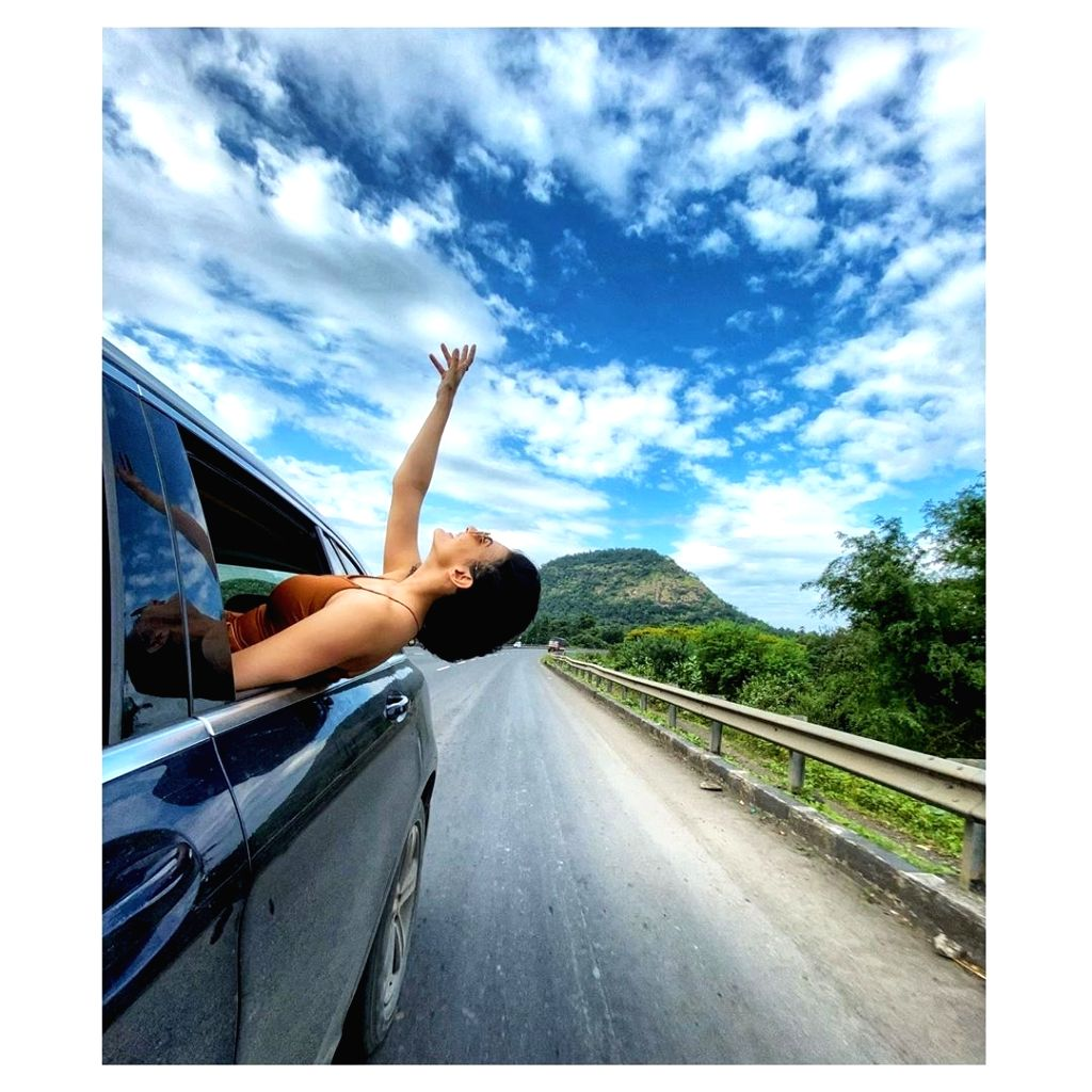 Amyra Dastur shares a snapshot from her road trip.