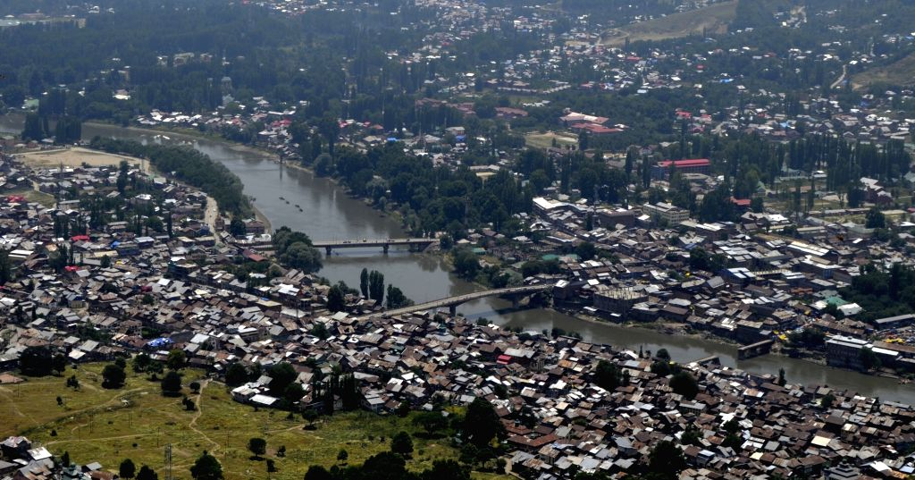 An aerial view of Baramulla town.