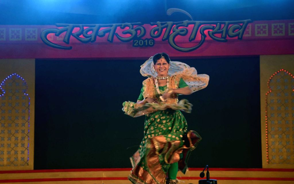 An artist performs during inauguration of Lucknow Mahotsav on Nov 25, 2016.