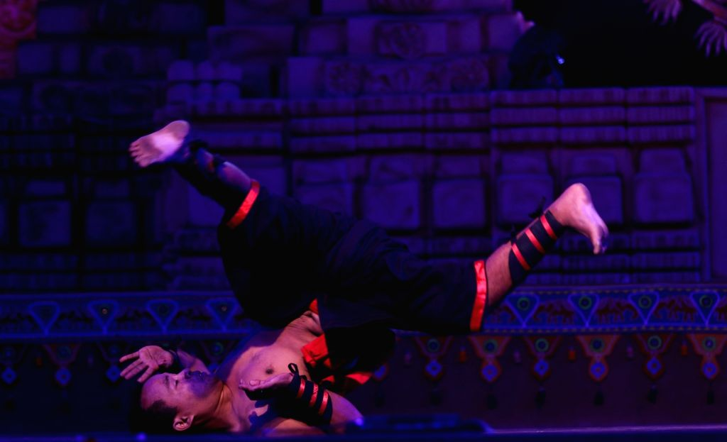 An artist performs during the Rashtriya Sanskriti Mahotsav organised by Ministry of Culture 2015 in New Delhi, on Nov 2, 2015.