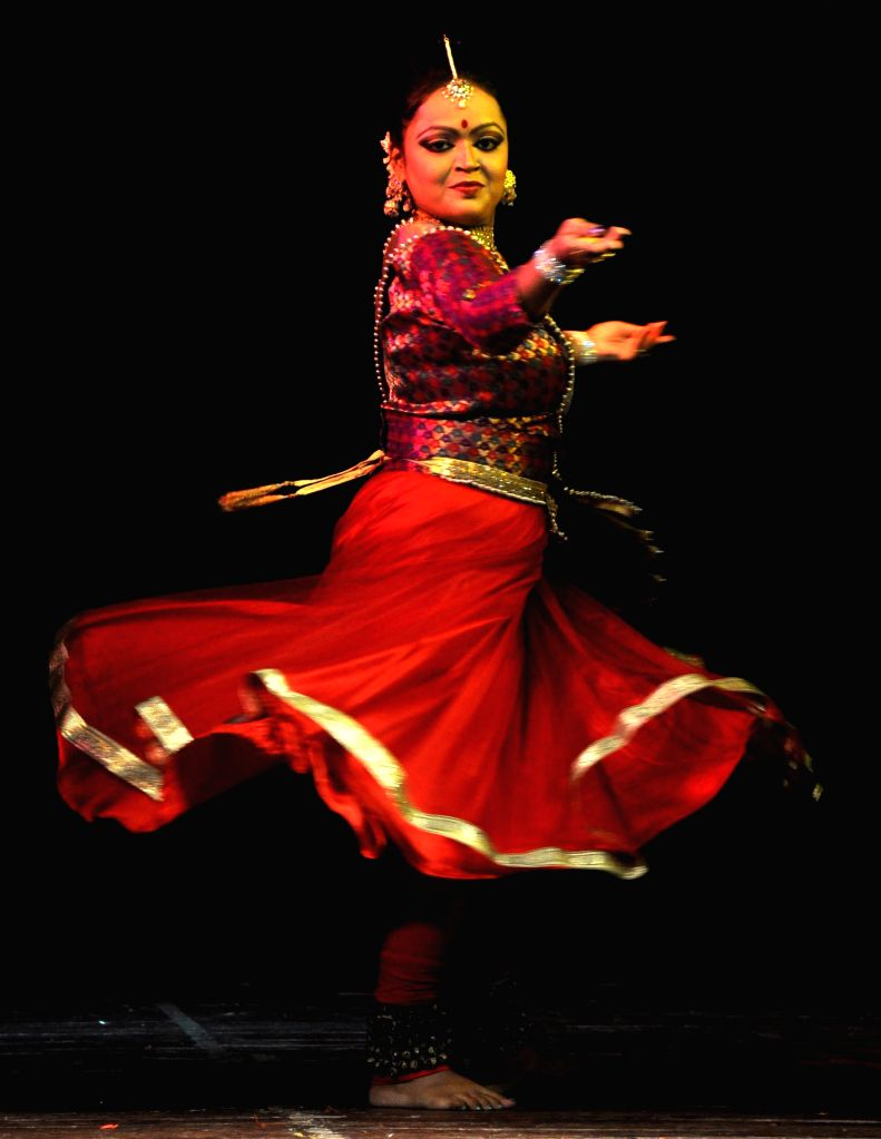 An artist performs `Kathak`during `Nrittya-Utsav` organised by Prayas Kala Kendra at District Library Auditorium in Guwahati on Sept 3, 2014.