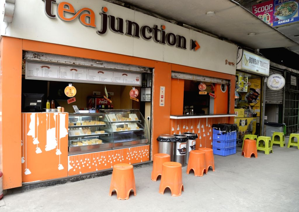 An eatery bears a deserted look amid COVID-19 (coronavirus) pandemic, in Kolkata on March 18, 2020.
