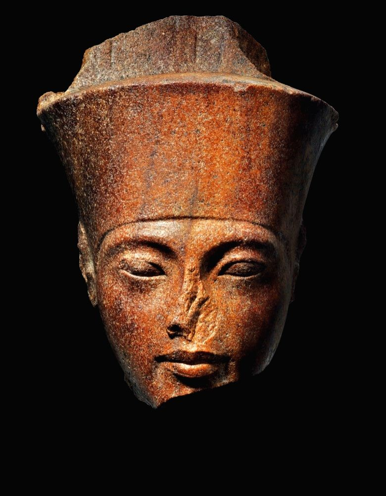 An Egyptian brown quartzite head of the god Amen with the features of the Pharaoh Tutankhamen, New Kingdom, 18th dynasty, reign of Tutankhamen, circa 1333-1323 BC. (Photo: Christie's)