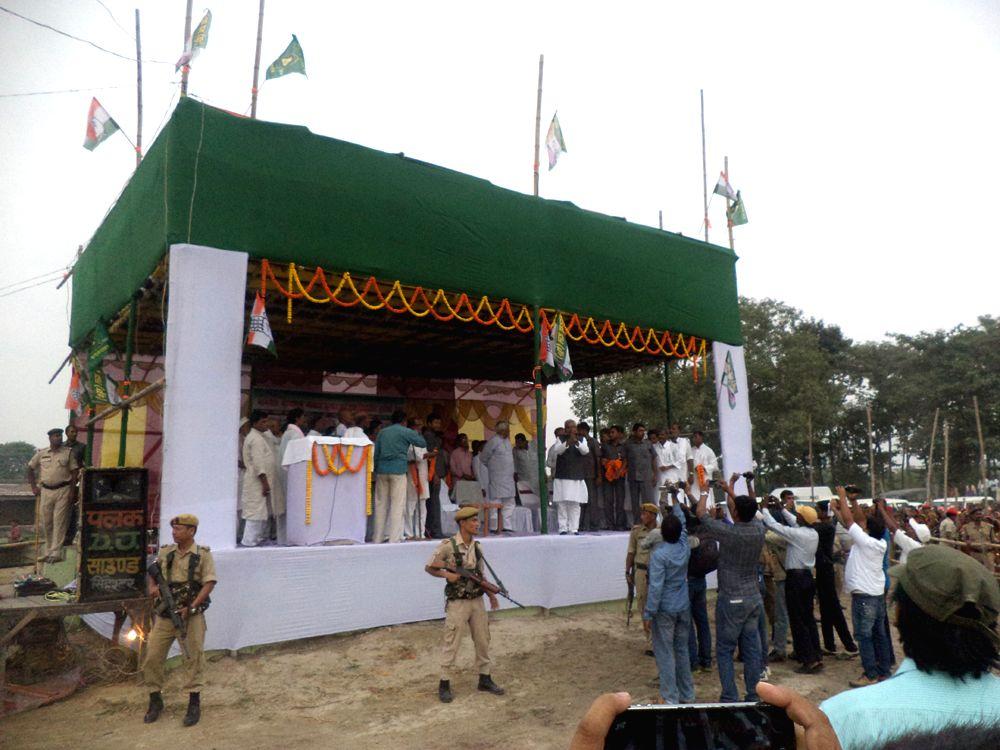 An election rally of Nitish in Madhepura