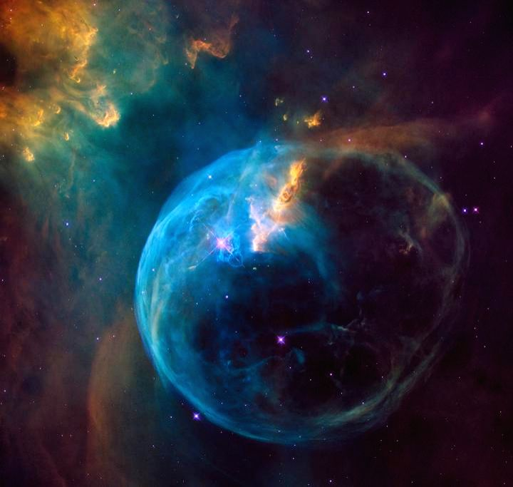An enormous, balloon-like bubble being blown into space by a super-hot, massive star. (Photo: NASA)