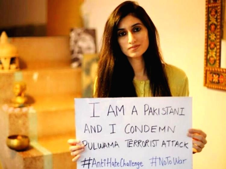 An independent Pakistani journalist, Sehyr Mirza, has begun an #AntiHateChallenge on Facebook, condemning the Pulwama suicide bombing in Jammu and Kashmir which killed 40 CRPF troopers.. - Sehyr Mirza