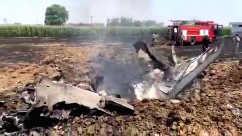 An Indian Air Force (IAF) fighter aircraft crashed near Rurki Kalan village in Punjab's Nawanshehar district area of Hoshiarpur on May 8, 2020.