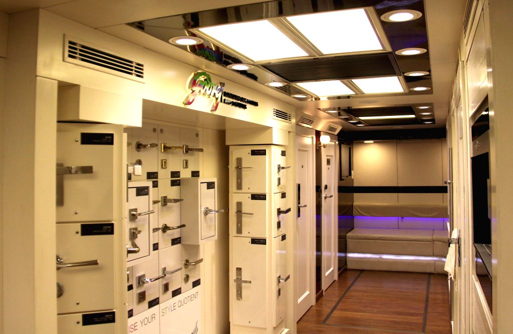 An inside view of Godrej's Innovation Express - a Mobile Experience Centre during press conference in Bangalore on Aug 12, 2014.