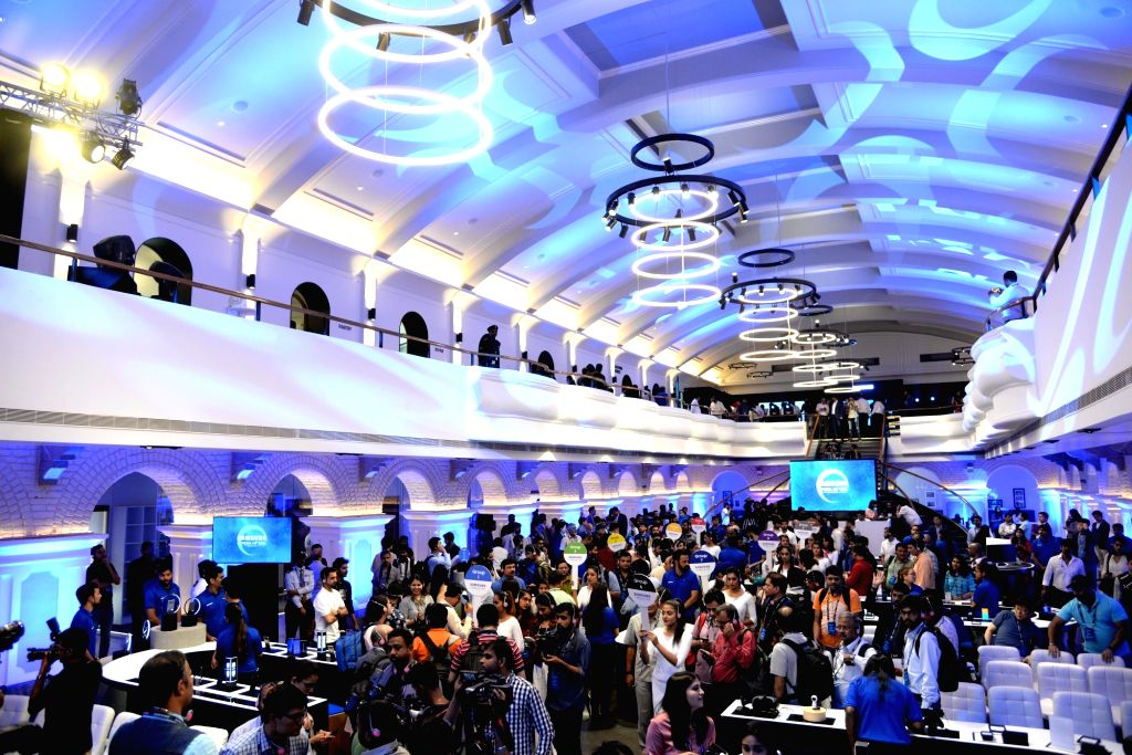 An inside view of Samsung's newly inaugurated largest mobile experience centre, in Bengaluru on Sept 11, 2018.