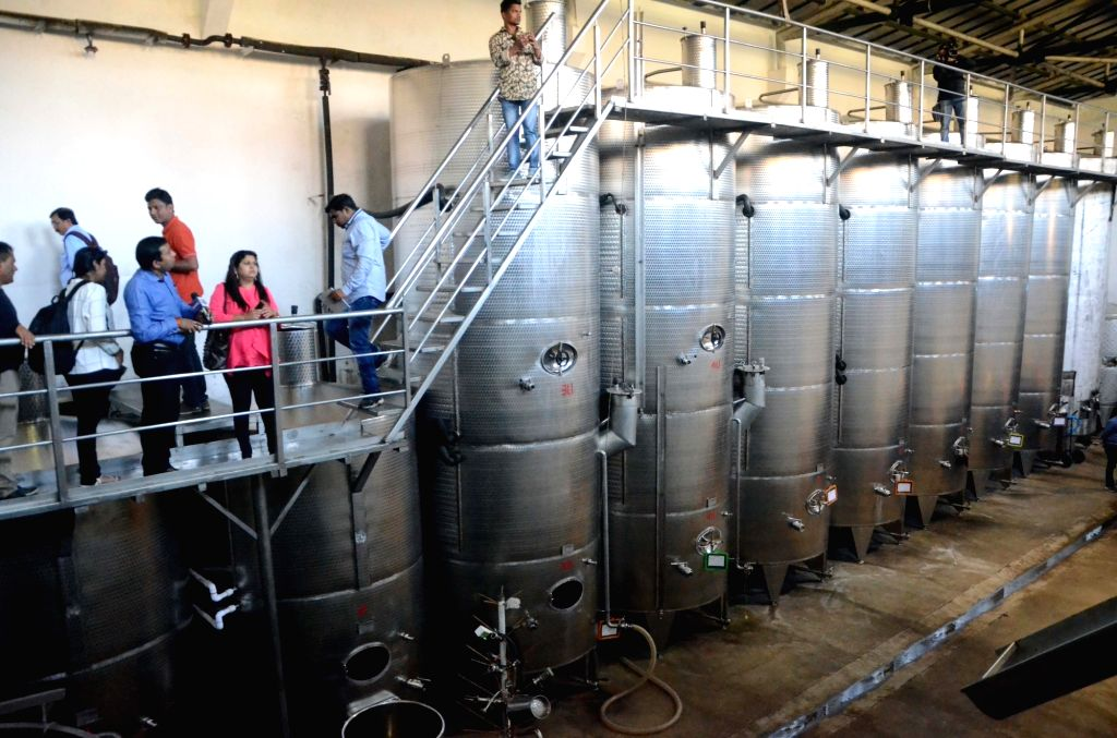 An inside view of the Grover Zampa winery in Sanjegaon Village of Nasik on Feb 10, 2018.