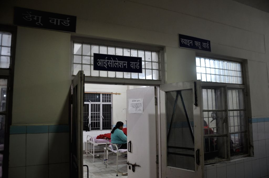 An Isolation ward for Dengue and Swine Flu patients at Coronation hospital in Dehradun on Feb 11, 2019.