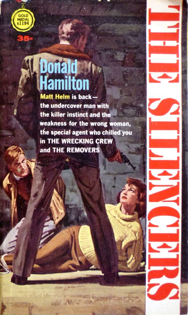 An original edition of one of Donald Hamilton's Matt Helm adventures and its modern variant