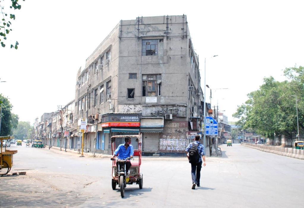 An view of Auto partes  Market in New Delhi on Sunday, 09 May,2021.