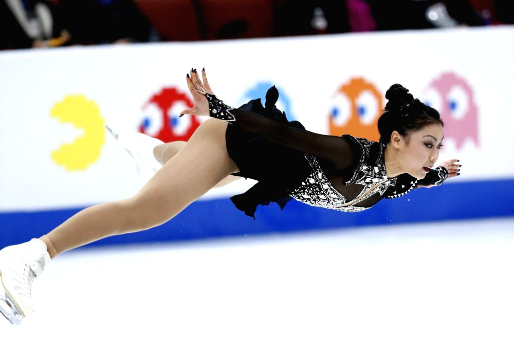 ANAHEIM, Feb. 9, 2019 - Yi Christy Leung of China's Hong Kong competes during the Ladies Free Skating of the ISU Four Continents Figure Skating Championships in Anaheim, the United States, Feb. 8, ...