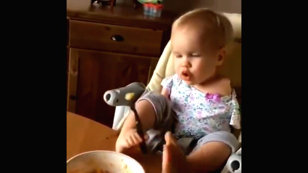 Anand Mahindra, Chairman of Mahindra Group, took to Twitter to share a video of a Russian toddler, born without arms, learning to feed herself using her legs.