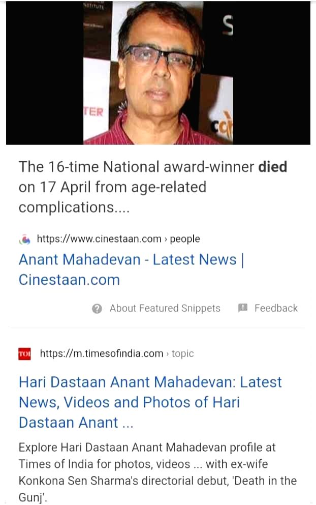 Anant Mahadevan reacts to death hoax with a laugh.
