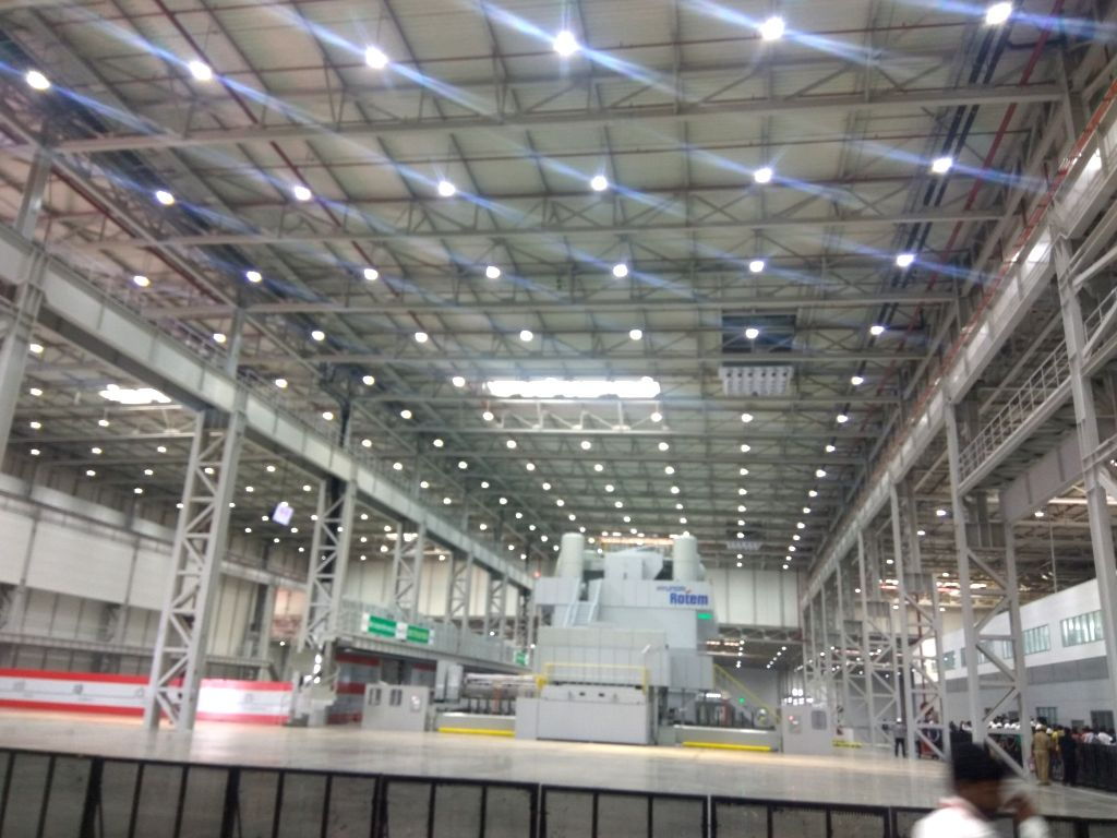 Anantapur: An inside view of the Anantapur plant of Kia Motors in Andhra Pradesh where it has commenced trial production, on Jan 29, 2019. (Photo: IANS)