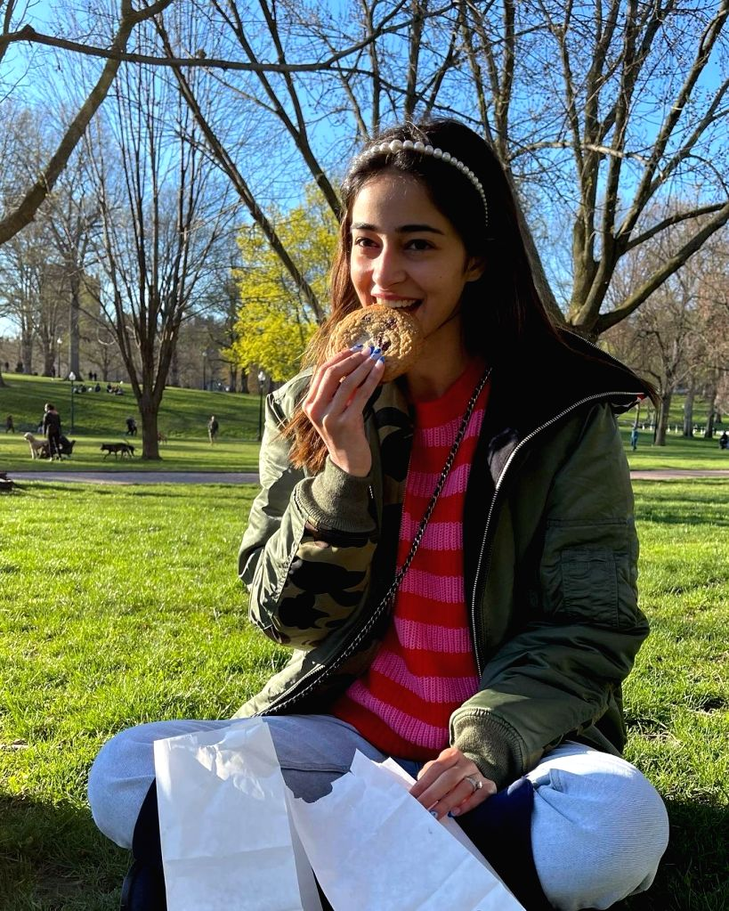 Ananya Panday reveals what makes her 'smile 101'( credit : Ananya Panday/instagram)
