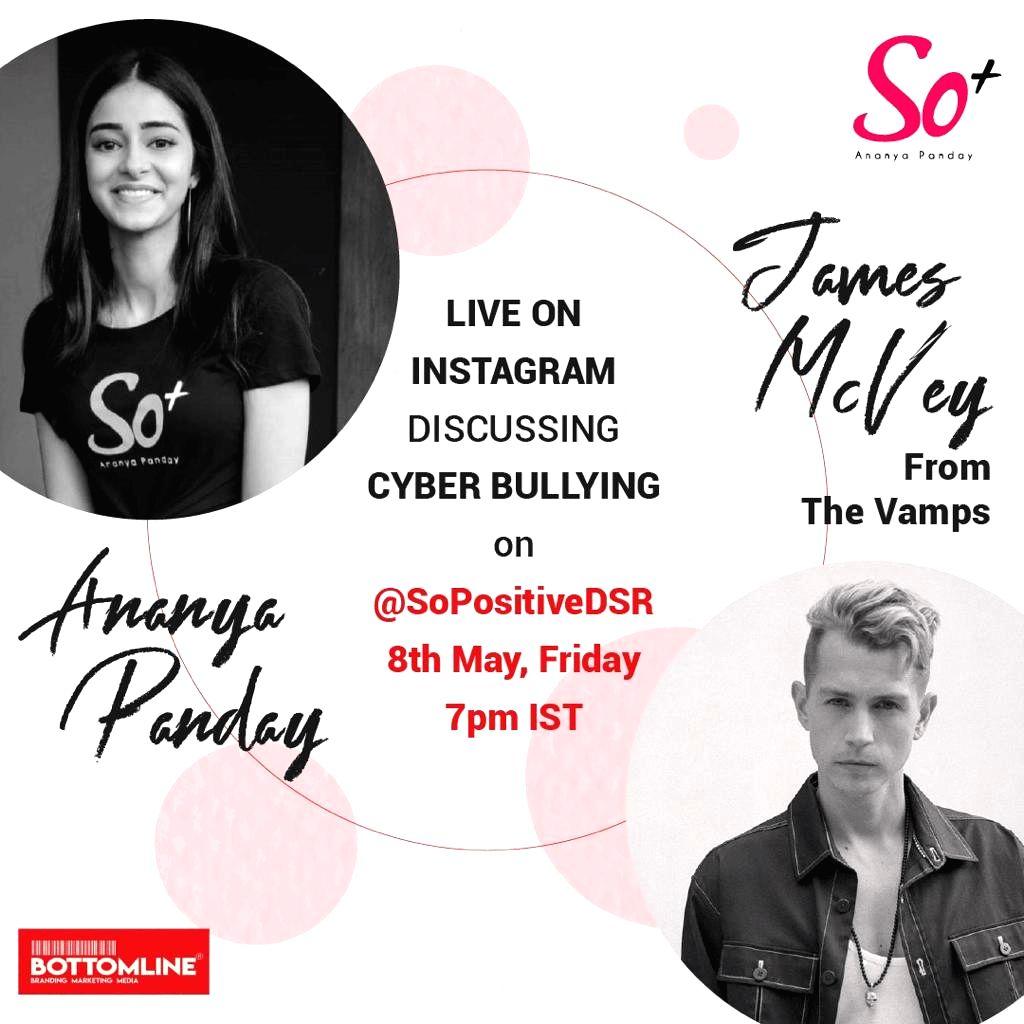 Ananya Pandey and 'The Vamps' guitarist James McVay will talk on 'Social Media Bulling'! - Ananya Pandey