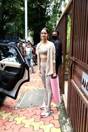 Ananya Pandey Spotted Outside Yoga Class In Khar on 04 october,2021.