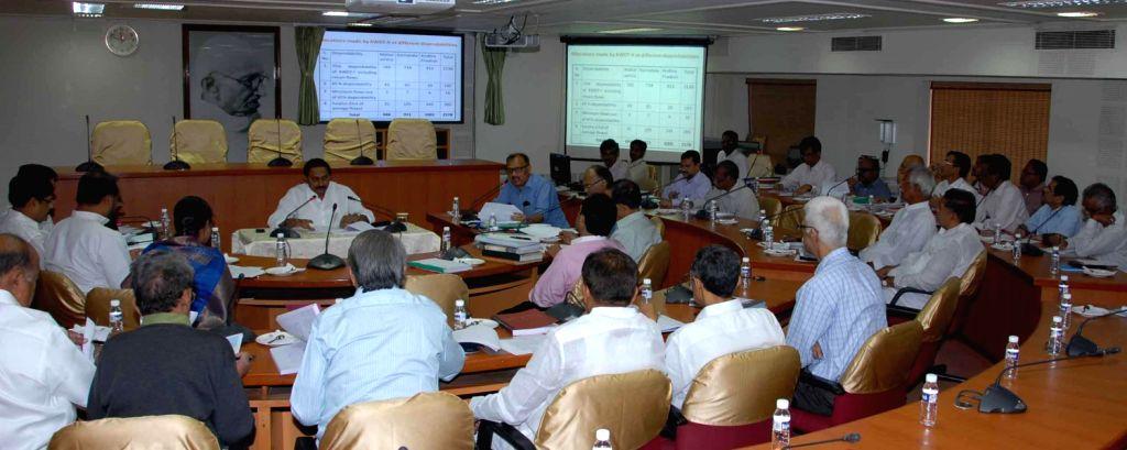 Andhra Chief Minister N Kiran Kumar Reddy during an all party meeting regarding Krishna Water Disputes Tribunal-II (KWDT-II) at the state secretariat in Hyderabad on Dec.10, 2013.