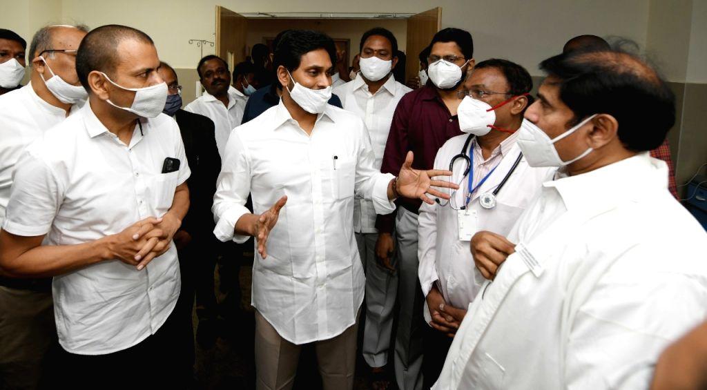Andhra CM witnesses Covid vaccination at Vijayawada GGH