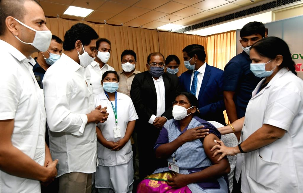 Andhra CM witnesses Covid vaccination at Vijayawada GGH