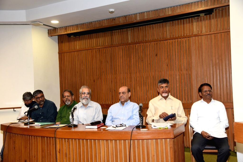 Andhra Pradesh Chief Minister and TDP supremo N. Chandrababu Naidu during Consultation on 'Strengthening transparency, accountability and independence of the Election Commission and ... - N. Chandrababu Naidu