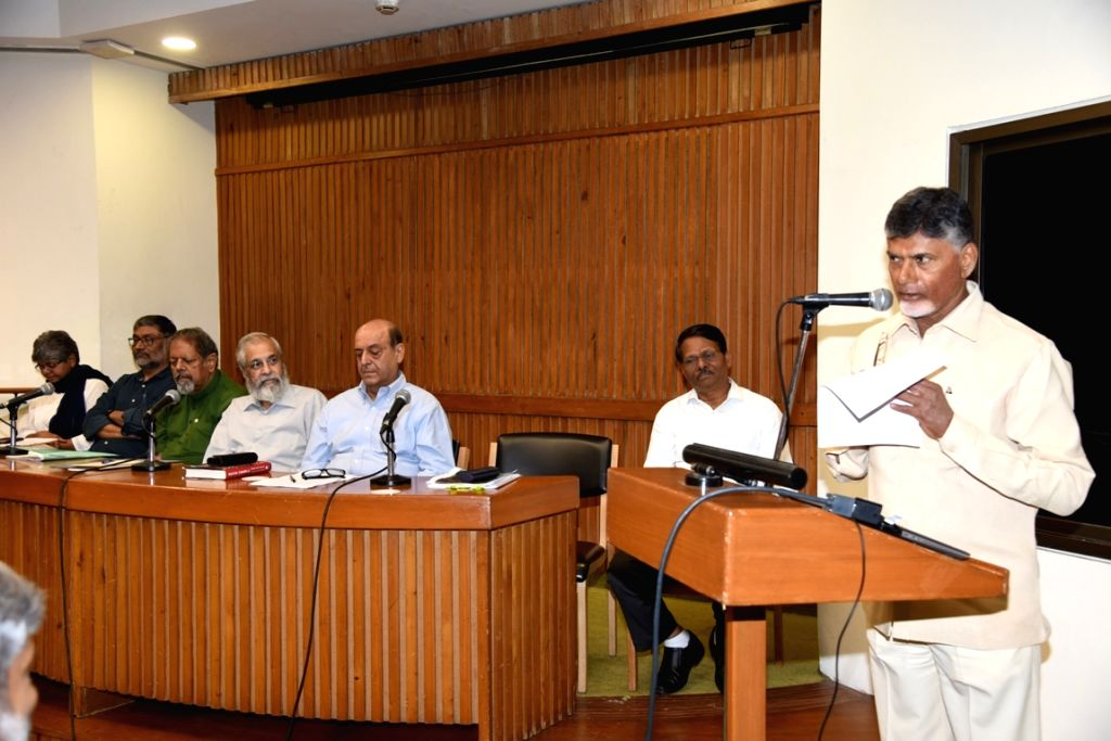 Andhra Pradesh Chief Minister and TDP supremo N. Chandrababu Naidu addresses during Consultation on 'Strengthening transparency, accountability and independence of the Election Commission ... - N. Chandrababu Naidu