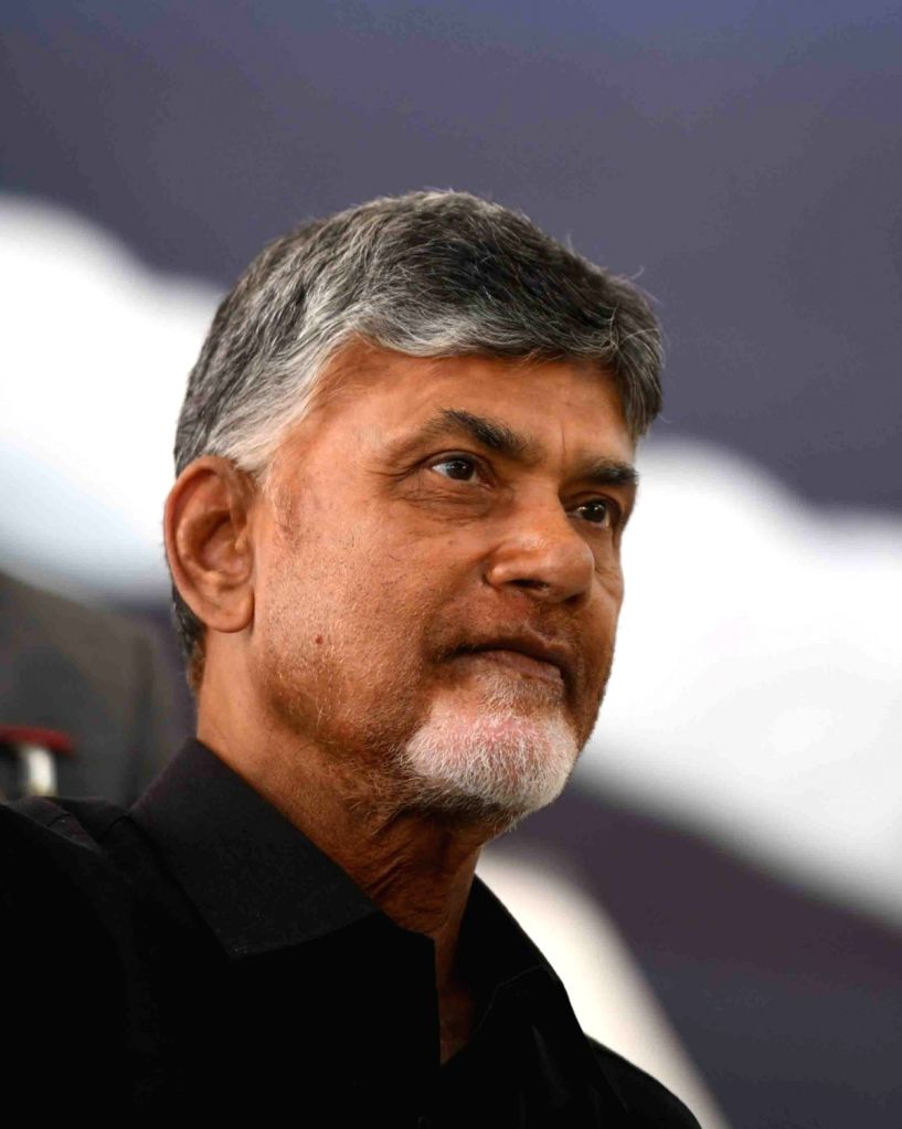 Andhra Pradesh Chief Minister N. Chandrababu Naidu, who began a 12-hour long fast demanding the Centre to accord special category status and fulfill other commitments made in Andhra ... - N. Chandrababu Naidu