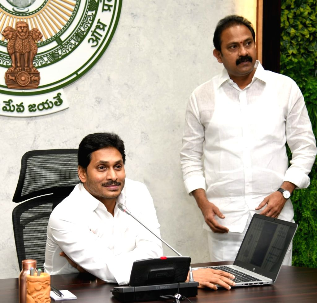Andhra pradesh Chief Minister Y S Jagan Mohan Reddy inaugurates Udayananda Hospitals in Nandyal, Kurnool district through video conferencing from Amaravati on Au 14, 2020. - Y S Jagan Mohan Reddy