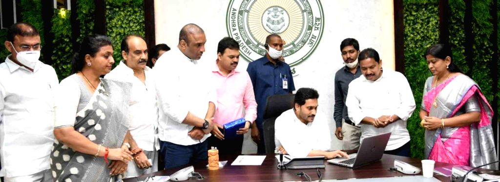 Andhra Pradesh Chief Minister Y.S. Jagan Mohan Reddy launched ???Jagananna YSR Badugu Vikasam - 2020 - 23???, an industrial policy that caters to the SC and ST entrepreneurs, in ... - Y.