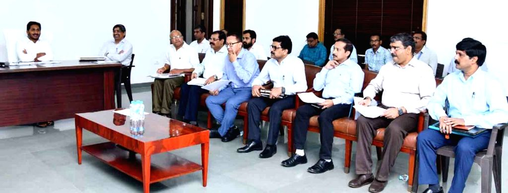 Andhra Pradesh Chief Minister Y. S. Jagan Mohan Reddy chairs a review meeting with the Finance and Revenue Department, in Amravathi on June 1, 2019. - Y. S. Jagan Mohan Reddy