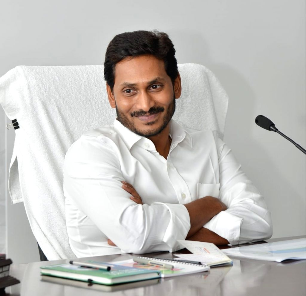 Andhra Pradesh Chief Minister Y. S. Jaganmohan Reddy chairs a review meeting with the health and medical department in Amaravati, on June 3, 2019. - Y. S. Jaganmohan Reddy