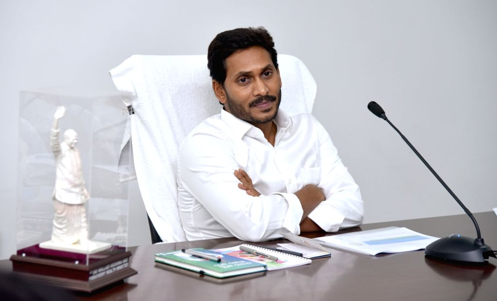 Andhra Pradesh Chief Minister Y. S. Jaganmohan Reddy chairs a review meeting with the water resources department in Amaravati, on June 3, 2019. - Y. S. Jaganmohan Reddy